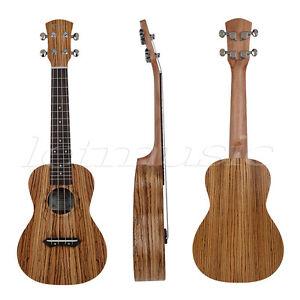 23 Inch Kmise Concert Ukulele Uke Hawaii Guitar Musical Instruments Zebrawood