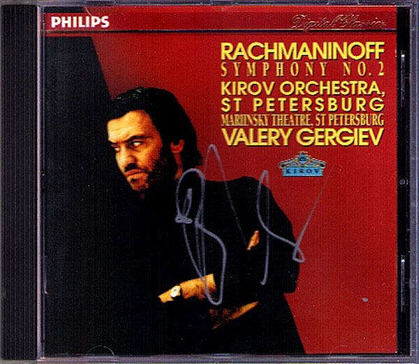 Valery GERGIEV Signiert RACHMANINOV Symphony No.2 KIROV CD Rachmaninoff Sinfonie