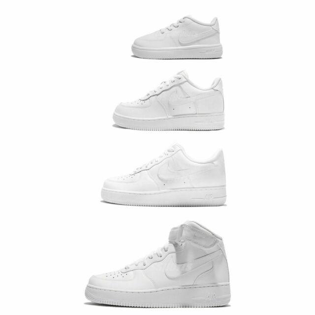 Nike Air Force 1 07 All Triple White Out Men Women PS Kids TD Shoes Pick 1