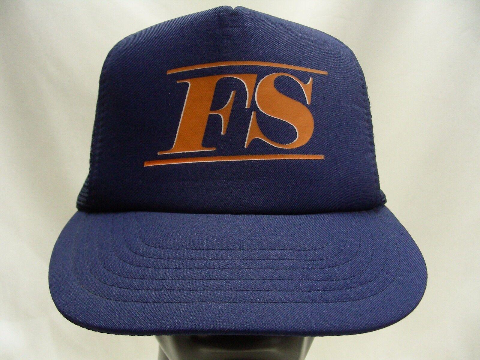 FS - LOGO - LARGE SIZE - FS VINTAGE TRUCKER STYLE ADJUSTABLE SNAPBACK BALL CAP HAT ded7db