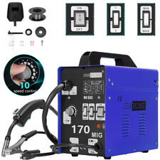 Mig Welder 170 Flux Core Wire Automatic Feed Welding Machine No Gas Ac 110v