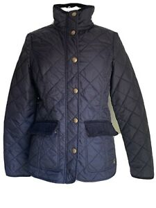 Joules-Women-039-s-Coat-Black-Quilted-Jacket-Autumn-Winter-UK-Size-10-EU-S
