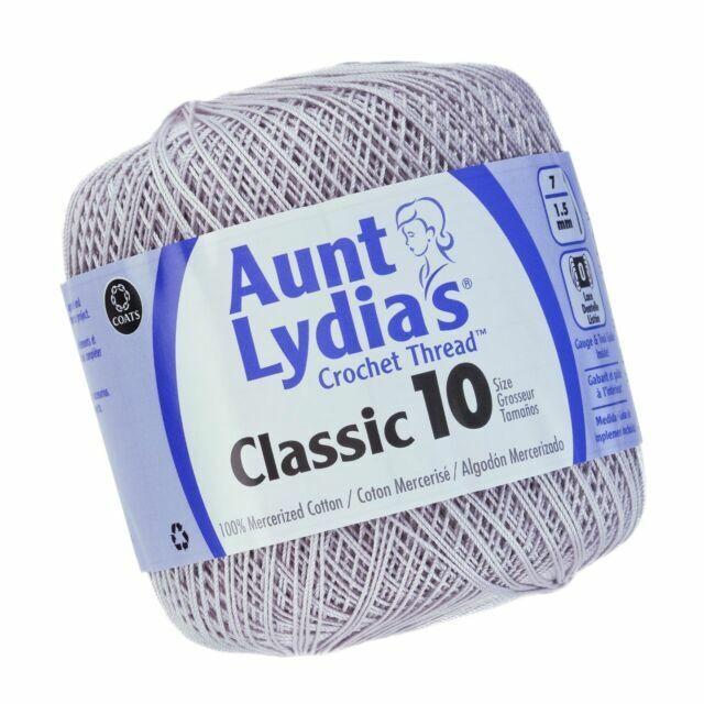 Coats Crochet Aunt Lydia/'s Classic Thread Size 10 Value-White,...