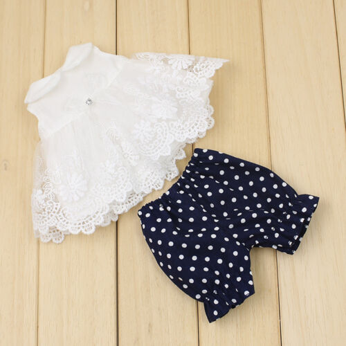 "1PC Cute Fat Girl 12/"" Neo Blythe Doll White T-shirts With Lace+Black Trousers"