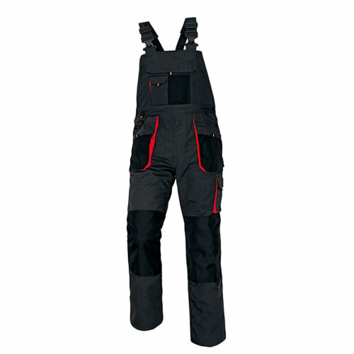 New Bib and Brace Overalls Mens WORK TROUSERS Dungaress KneePad Grey or White