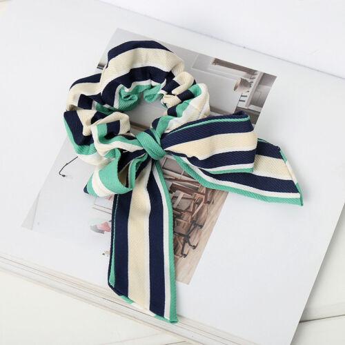 Women/'s Bow Knotted Elastic chouchous Ponytail Holder Hair Tie Corde Anneaux Bande