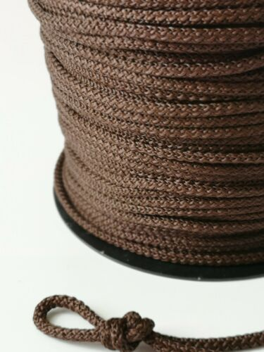 Brown Strong Rope Soft Round Cord Drawstring Lacing Tying Travel Crochet  Crafts