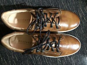 Bed-Stu-Land-Brown-Rustic-Leather-Lace-Up-Sneakers-Size-9-5-Mens