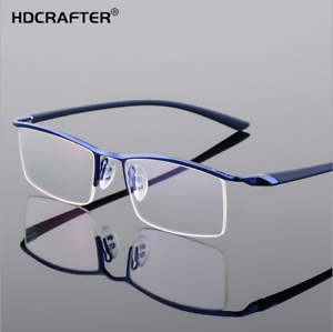 dd54ac8a31 Image is loading Men-Business-Rimless-Memory-Titanium-Alloy-Glasses-RX-