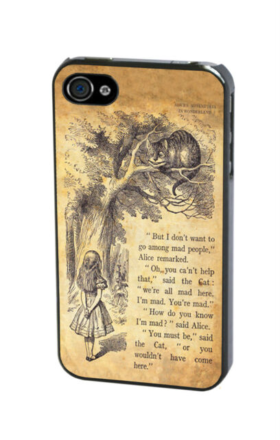 Disney Alice in Wonderland Cheshire Cat Vintage Quote Case Cover iPhone Samsung