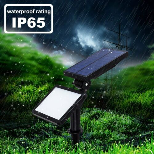 2Pack Solar Power Flood Lamp Spotlight Outdoor 50Led Garden Wall Landscape Light