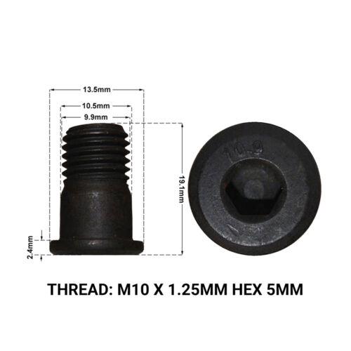 2 x FRONT BRAKE DISC RETAINING SCREWS DRS1666B 2002-/> VAUXHALL VECTRA MK2