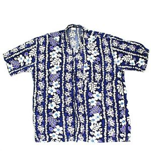 6a987f6144 Image is loading VINTAGE-Beachwear-Floral-Camp-Shirt-Size-Large-Classic-
