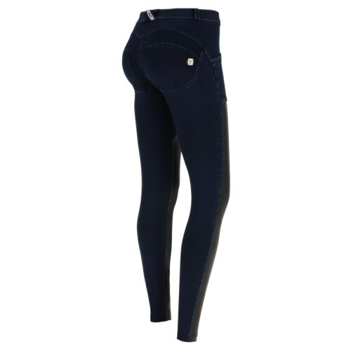 SCONTO 10/% FREDDY WR.UP PANTALONE PUSH UP WRUP1RF801 JEANS INSERTI ECOPELLE