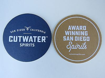 Beer Coaster ~ BALLAST POINT CUTWATER SPIRITS Fugu Vodka ~/</>~ San Diego CALIF