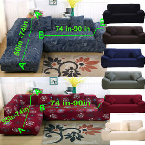 10 Sectional L Shape Corner Stretch Sofa Slipcover Couch