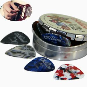 Gifts-Round-Metal-Picks-Box-Mix-Thickness-Alice-Acoustic-Electric-Guitar-Picks