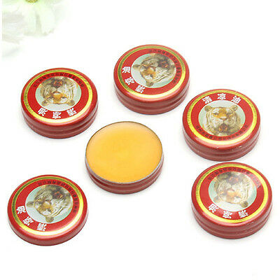 5pcs QingLiangYou Balm Red oil tiger For Headaches Carsickness Itching Relief