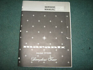 Marantz-Stereo-Tuner-Model-ST500-Service-Manual-42-page-Good-Condition
