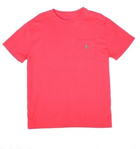 Polo-Ralph-Lauren-Mens-T-Shirt-Red-Size-Medium-M-Crewneck-Classic-Fit-39-087