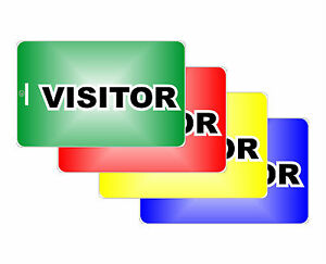 4 visitor id card company reception guest pvc flash business
