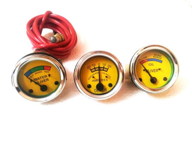 Oliver Tractor Oil Pressure, Ammeter, Temperature Gauge Set Replacement
