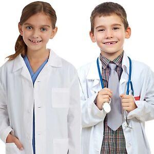 Kids Medical Doctor Lab Coats Long White Jacket for Childrens ...