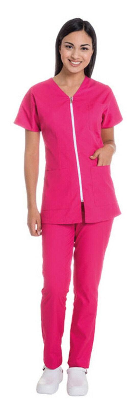 Divisa Sanitaria Donna Casacca Pantaloni Pantaloni Pantaloni Ospedale Infermiera Completo Estetica 92d124
