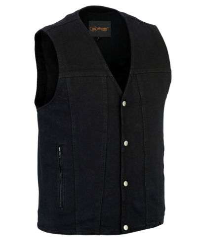 Grim Reaper Scythes Design Mens Denim Vest W Concealed Carry Gun Pockets