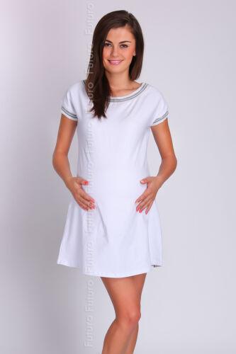 Womens Maternity Casual Mini Dress Short Sleeve 100/% Cotton Size 8-12 FT2043S