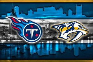 quality design e0673 27cd3 Details about TENNESSEE Sports Poster Nashville Predators Tennessee Titans  8x10in Free Ship