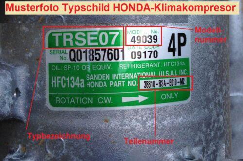TOP! NEU Klimakompressor Kupplung Riemenscheibe HONDA CIVIC CR-V ACOORD FR-V
