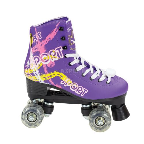 Damen RETRO LED Rollschuhe Roller mit FUNKEN Skates Inliner QUAD NILS