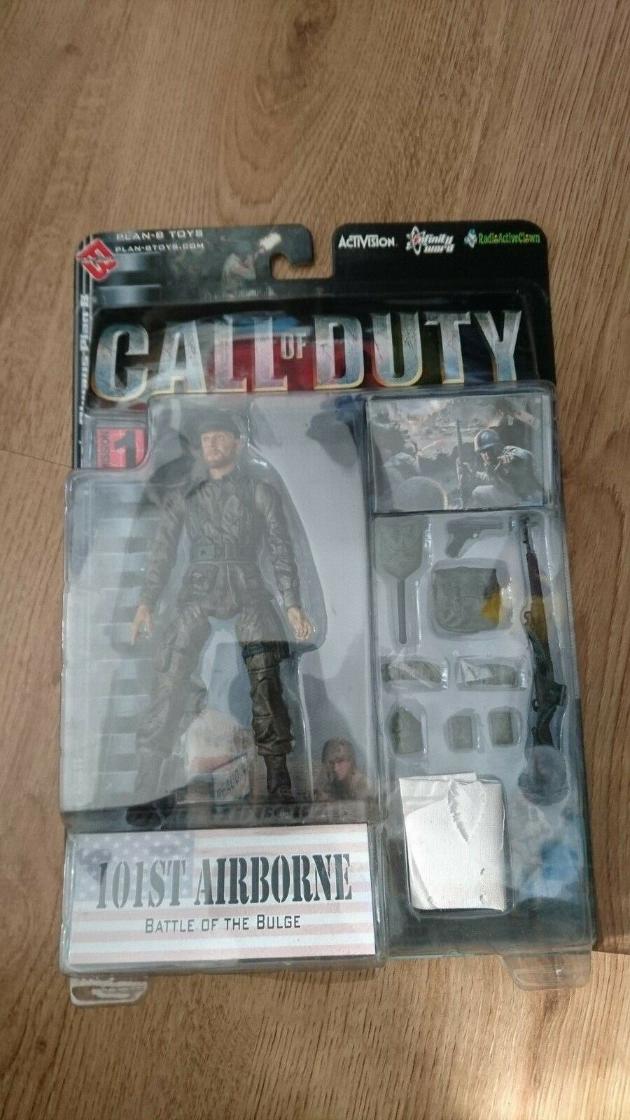 CALL OF DUTY WWII AMERICAN 101st Airborne ACTION FIGURE PLAN-B PLAN-B PLAN-B TOYS - Brand New 72566a