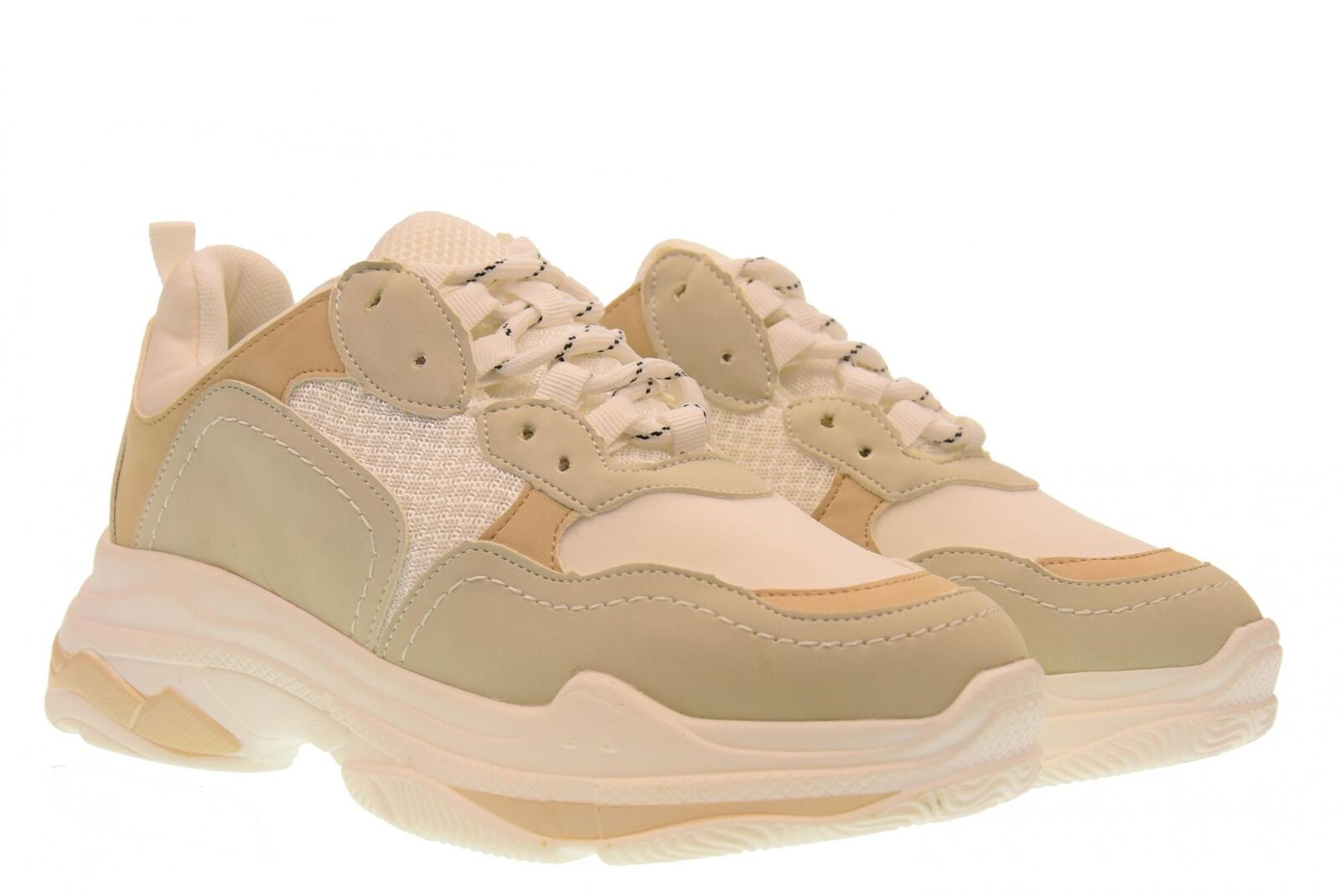 or & or A18u Chaussures Femme Low Baskets gt530 Bianco-beige