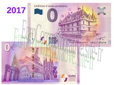 Billet Touristique souvenir Zéro Euro France 2017 Chateau Azay le Rideau !