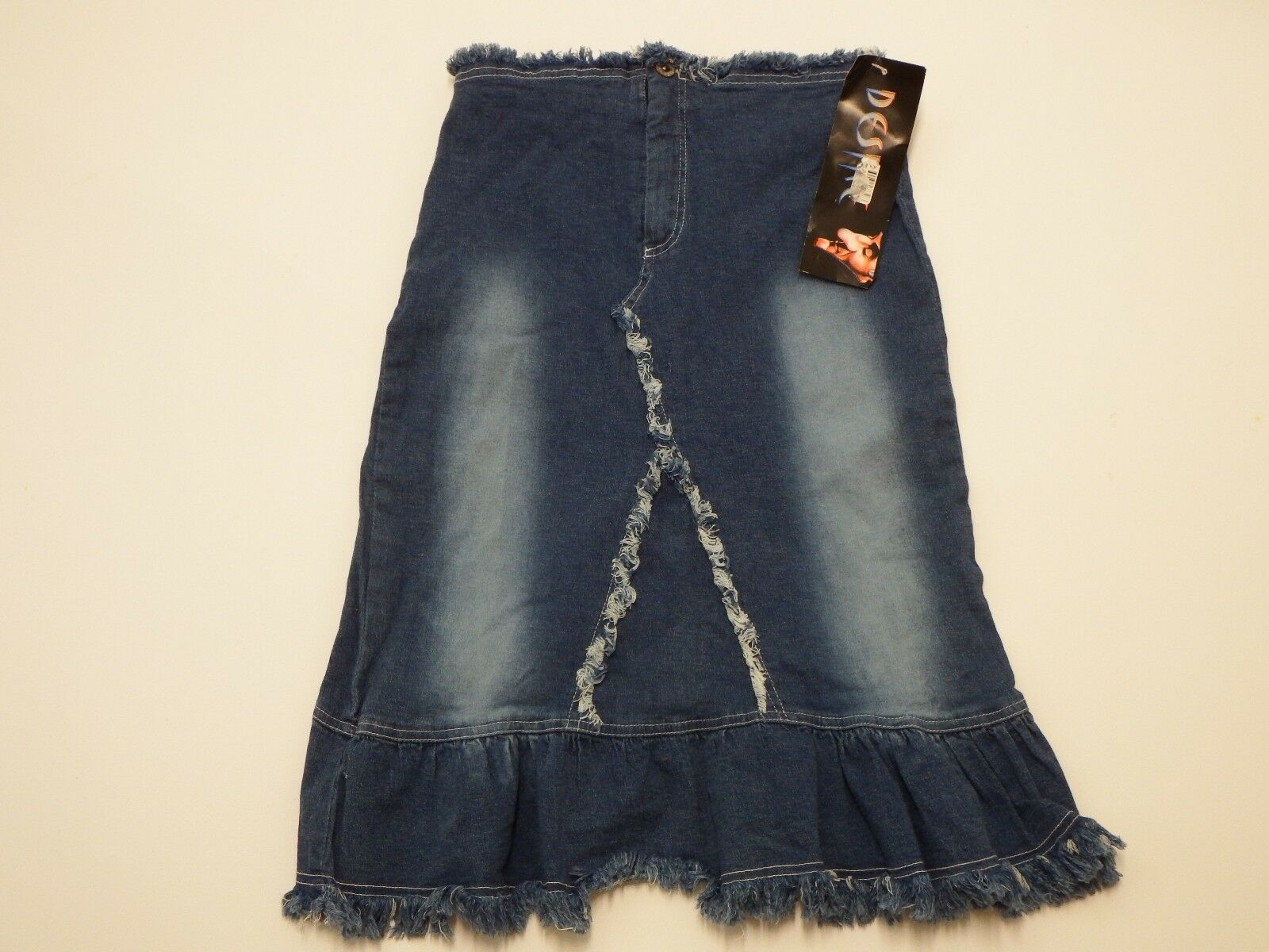 Skirt bluee Jean Denim Size 5 6 Desire