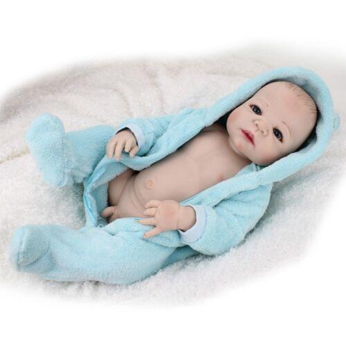 "22/"" Full Body Silicone Vinyl Reborn Baby Boy Doll Handmade Lifelike Newborn Toys"