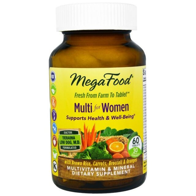 NEW MEGAFOOD MULTI FOR WOMEN 40+ MULTIVITAMIN 60 Tablets