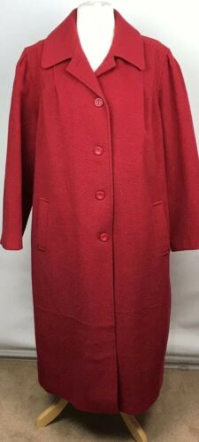 Uk Made Paige England 18 16 In 46 Lana Lungo Vintage Completo Rosso gwqH6