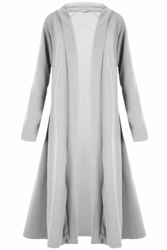 New Ladies Open Flare Floaty Flowy Maxi Cardigan Womens Long Trench Coat Jacket
