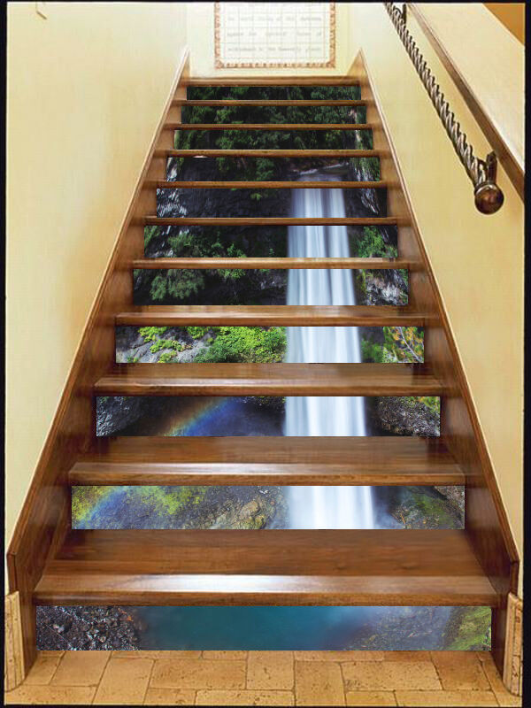3D Valley Shrub 60 Stair Risers Decoration Photo Mural Vinyl Decal Wallpaper AU