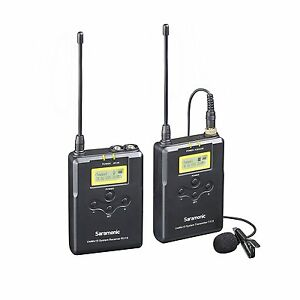 Saramonic-UWMIC15-16-Channel-Digital-UHF-Wireless-Lavalier-Microphone-System