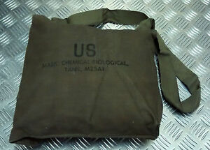 Genuine-Vintage-US-Army-M25-Gas-Bag-Tank-Shoulder-Side-Bag-Attache-NEW