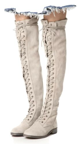 $228 FREE PEOPLE Tennessee Over the Knee Boot LACE