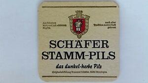 Schafer Stamm-Pils Bierdeckel Bier Untersetzer