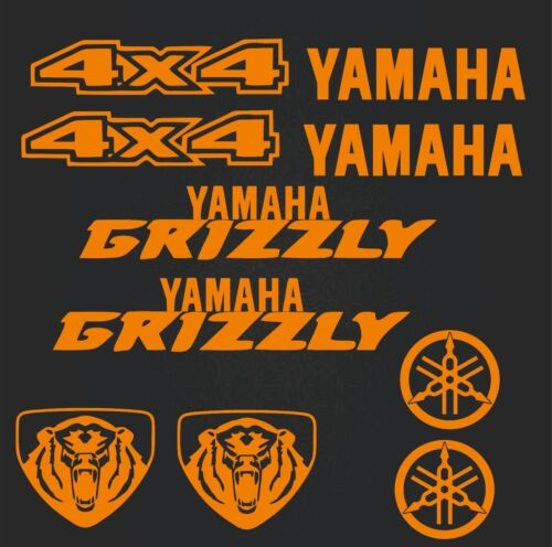 4x4-motosport-high quality Yamaha-set of stickers-Yamaha Grizzly orange SK-182
