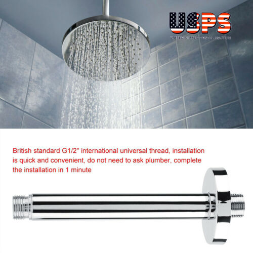 15cm Stainless Steel Wall Mounted Shower Extension Extra Arm For Shower Head USA