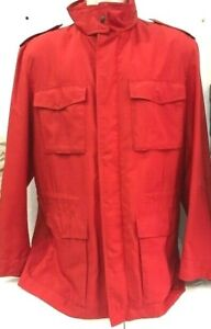 U-S-Polo-Assn-Jacket-Dust-Coat-Man-Fabric-Size-54-Red