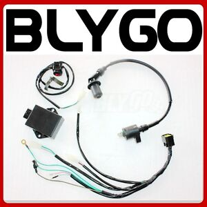 image is loading complete-wire-wiring-harness-loom-yx-160cc-4-